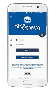 SeaComm Mobile Branch Home